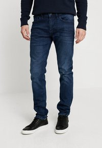 TOM TAILOR DENIM - PIERS PRICESTARTER - Jeans slim fit - used dark stone/blue denim - 0