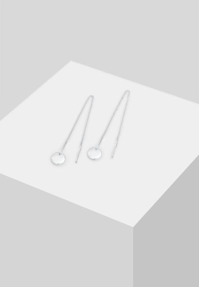KREIS PULL-THROUGH - Oorbellen - silber