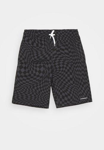 PRINTED FLEX WAIST PULL ON UNISEX - Shorts - black