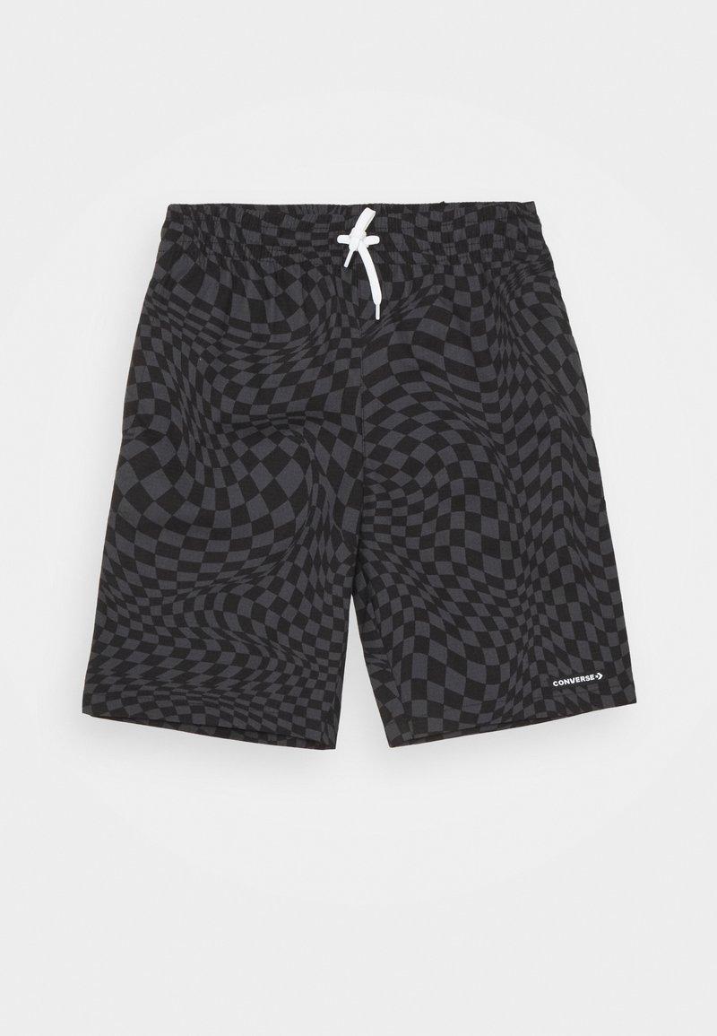 Converse - PRINTED FLEX WAIST PULL ON UNISEX - Shorts - black
