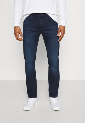 DAREN ZIP FLY - Jeans straight leg - dark-blue denim/blue