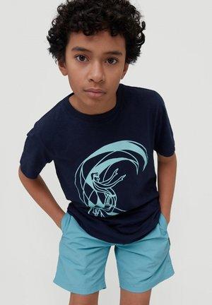 TEES CIRCLE SURFER SS T-SHIRT - Print T-shirt - ink blue