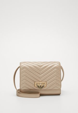 AMY CHEVRON SHOULDER BAG - Bandolera - chiaro
