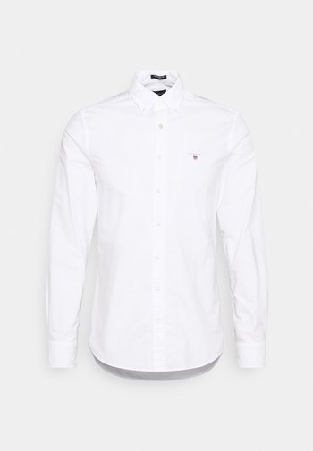 SLIM FIT LOGO DETAIL - Shirt - white