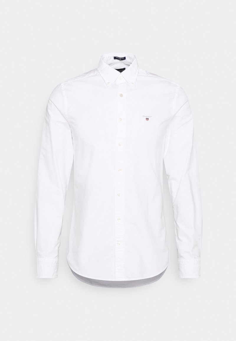 GANT - SLIM FIT LOGO DETAIL - Košile - white