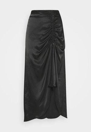 MIDI SKIRT - Áčková sukně - black