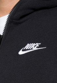 Nike Sportswear - CLUB HOODIE - Tröja med dragkedja - black/black/white - 4