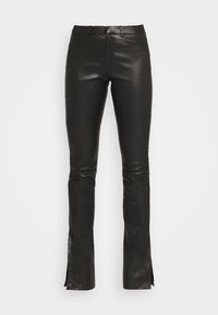 Ibana - LUCILLE - Leather trousers - black - 3