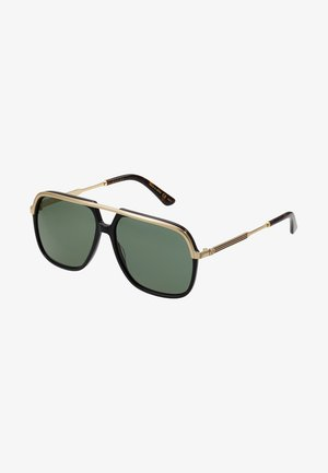 Sunglasses - black/gold/green