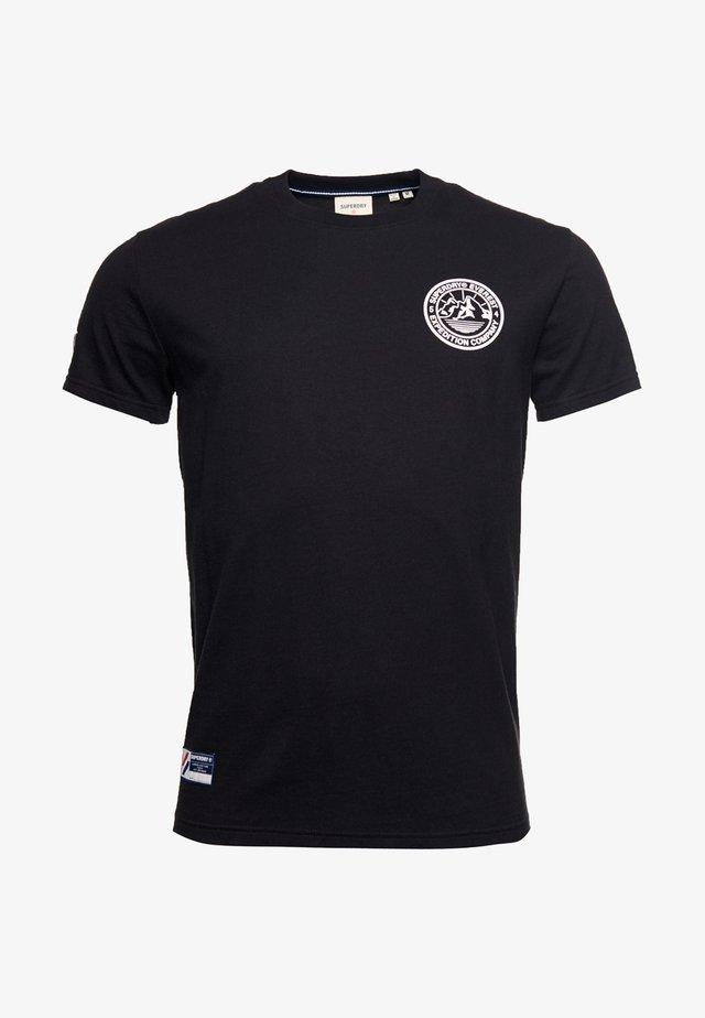 EXPEDITION  - T-shirt imprimé - black