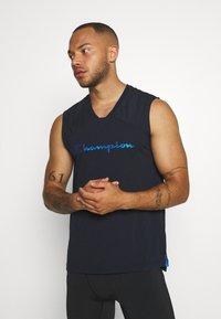 Champion - GET ON TRACK SLEVELESS TEE - T-shirt de sport - dark blue - 0