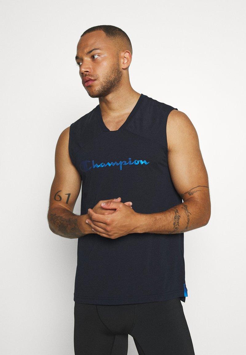 Champion - GET ON TRACK SLEVELESS TEE - T-shirt de sport - dark blue