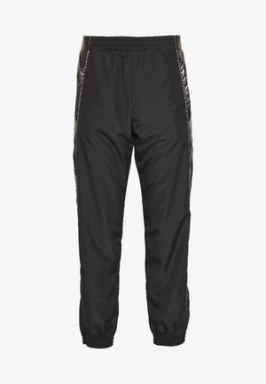 PANTS - Tracksuit bottoms - black/silver