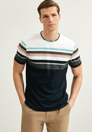 BLOCKING  - Print T-shirt - dark blue