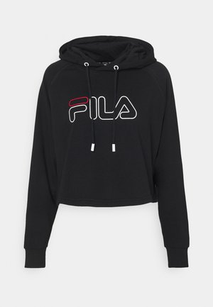 JANA CROPPED HOODY - Sweatshirt - black