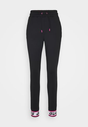 LONG - Tracksuit bottoms - jet black
