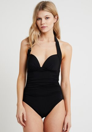 GATHERED - Swimsuit - black