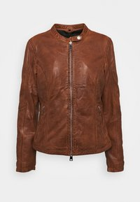Freaky Nation - NEW TULA - Leather jacket - cognac - 4