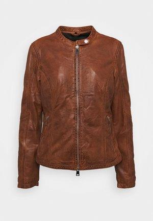 NEW TULA - Leather jacket - cognac