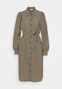 Freequent - Shirt dress - beige/black - 0
