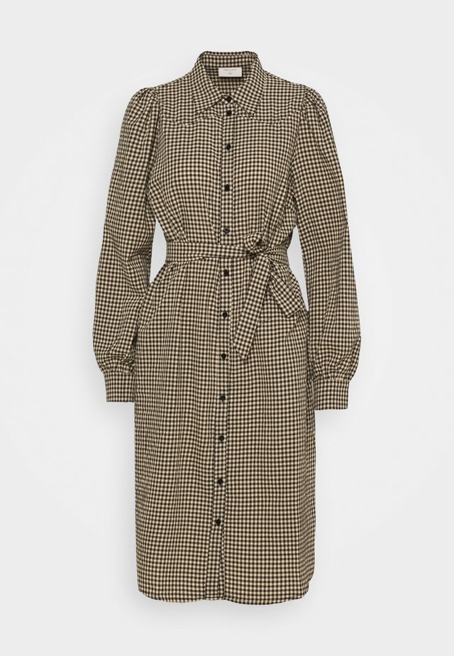 Shirt dress - beige/black