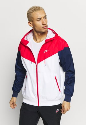 Vindjakke - white/university red/midnight navy