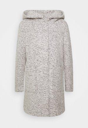 BOUCLE COAT WITH HOOD - Classic coat - grey
