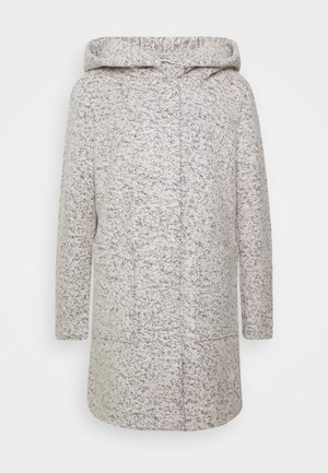 BOUCLE COAT WITH HOOD - Zimní kabát - grey