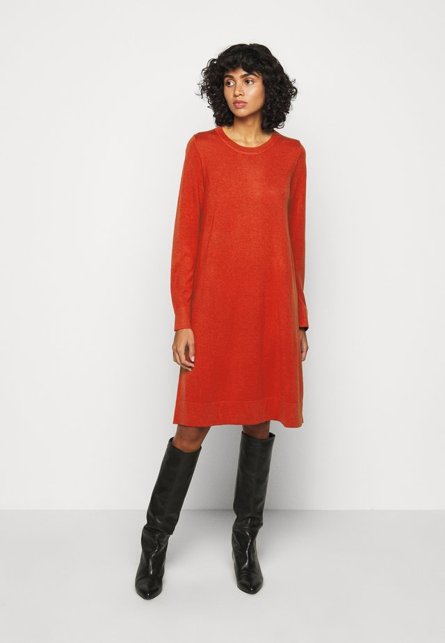 CREW NECK DRESS - Robe pull - red