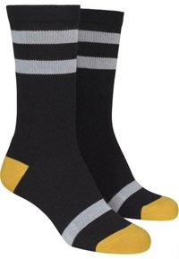 Urban Classics - 2 PACK - Socks - black/white/chromeyellow - 4