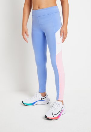 TROPHY - Legginsy - royal pulse/pink/white