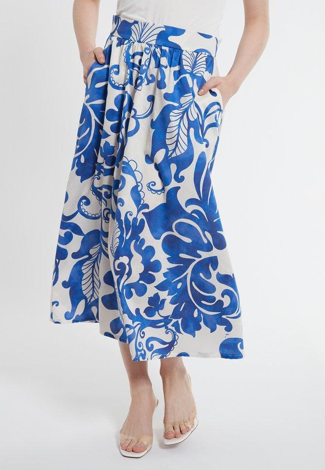 Jupe trapèze - blau