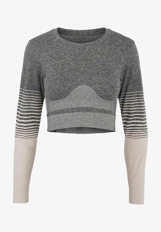 Bluzka z długim rękawem - medium grey melange