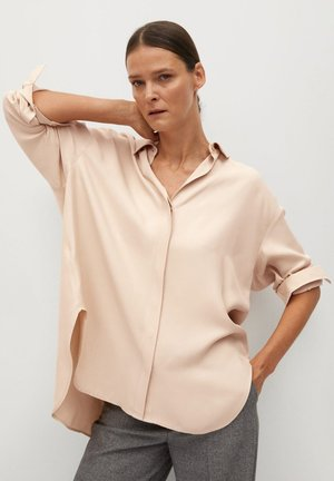 NETA - Button-down blouse - nude