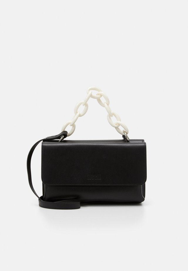RECTANGLE BAG WITH CHAIN - Handtas - black