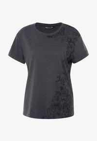 ONLY Play - ONPREBEL FOLD UP TEE - Funktionsshirt - dark grey melange/black - 4