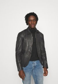 Be Edgy - LOGAN - Leather jacket - anthra - 0