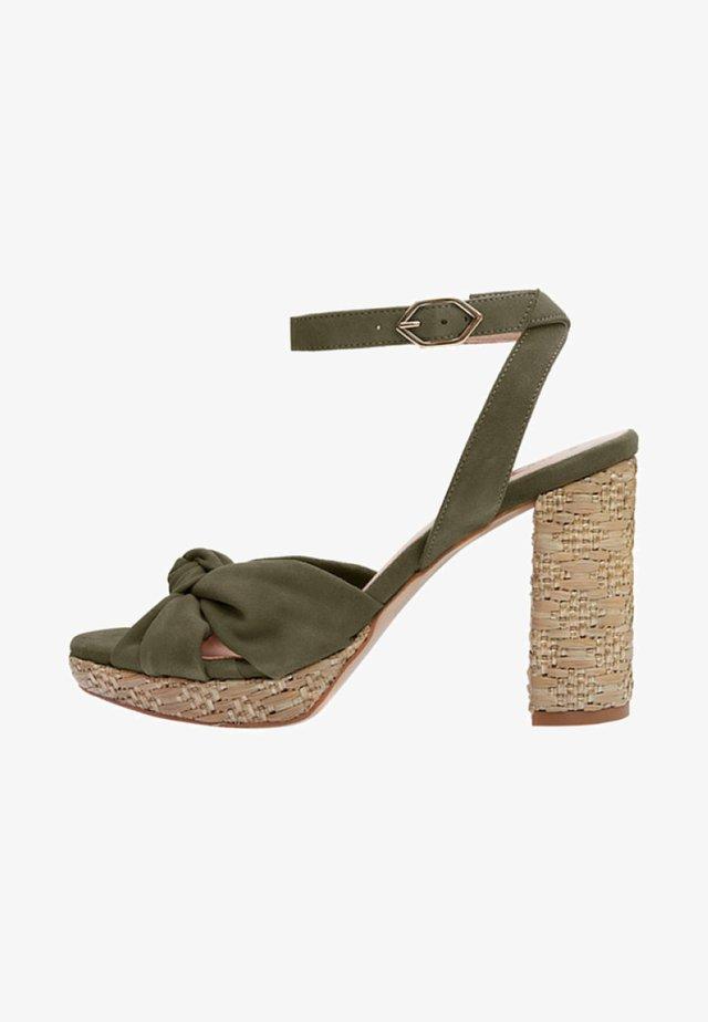 ESMA - Sandalen met hoge hak - green