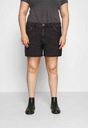 HIGH WAISTED - Szorty jeansowe - stonewash black