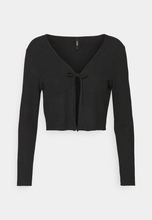 ONLNELLA TIE CARDIGAN - Vest - black