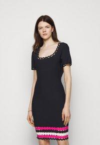 Milly - GEO CUT OUT DRESS - Jumper dress - navy/multi - 0