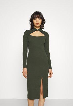 HOLLY CUT OUT MIDI DRESS - Jersey dress - khaki