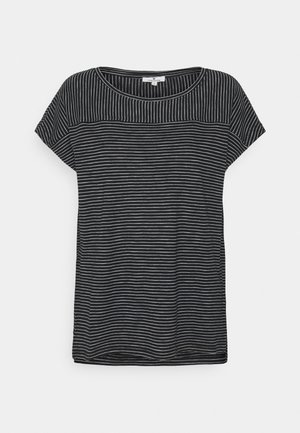 STRIPED - Print T-shirt - black