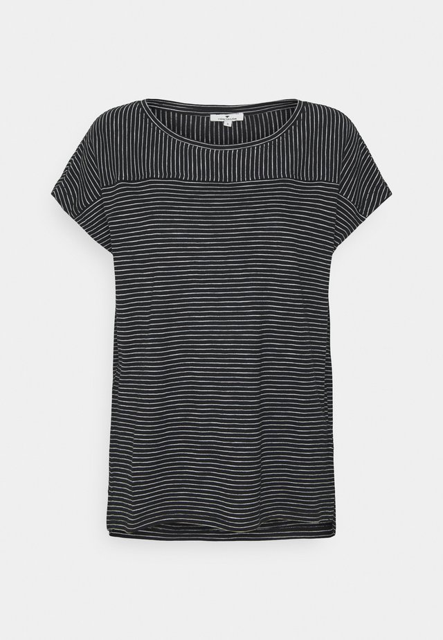 STRIPED - T-shirt print - black