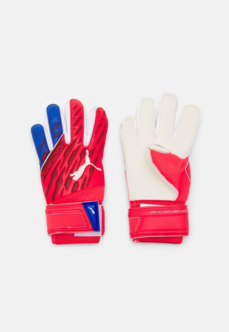 Puma - ULTRA GRIP JUNIOR UNISEX - Goalkeeping gloves - sunblaze white/bluemazing
