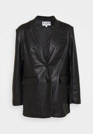 MAXI OVERSIZED - Short coat - black