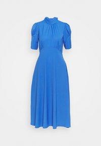 TIE BACK A LINE DRESS - Day dress - blue
