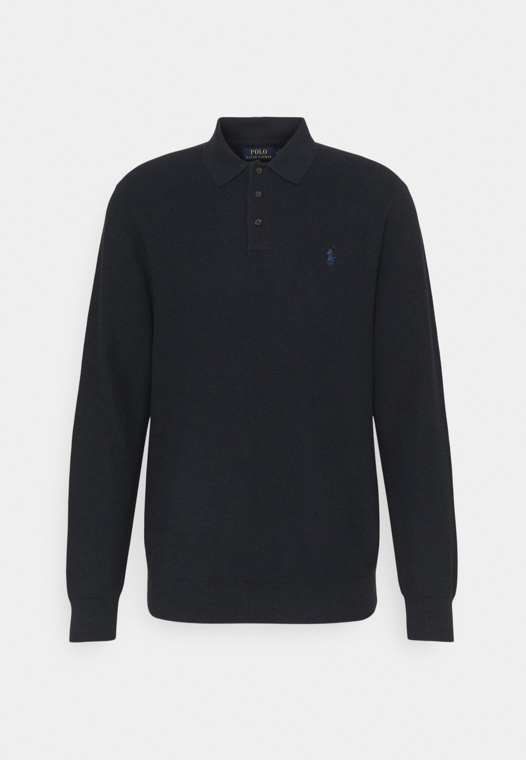 Men COTTON POLO-COLLAR SWEATER - Polo shirt