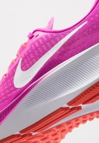 Nike Performance - AIR ZOOM PEGASUS 37 - Neutral running shoes - fire pink/white/team orange/magic ember - 7