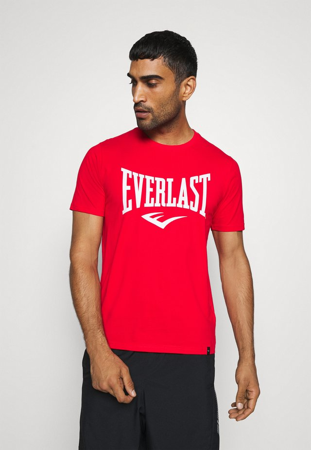 BASIC TEE RUSSEL - T-shirt imprimé - red